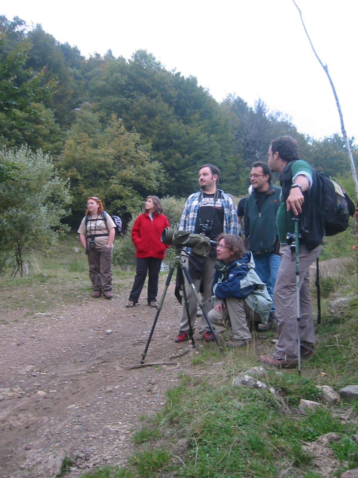 grupo turistas ornitología